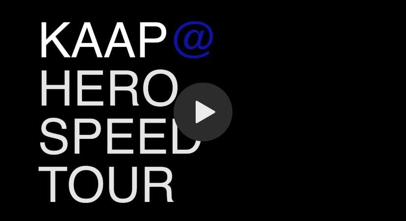 KAAP @hero.amsterdam SPEED TOUR