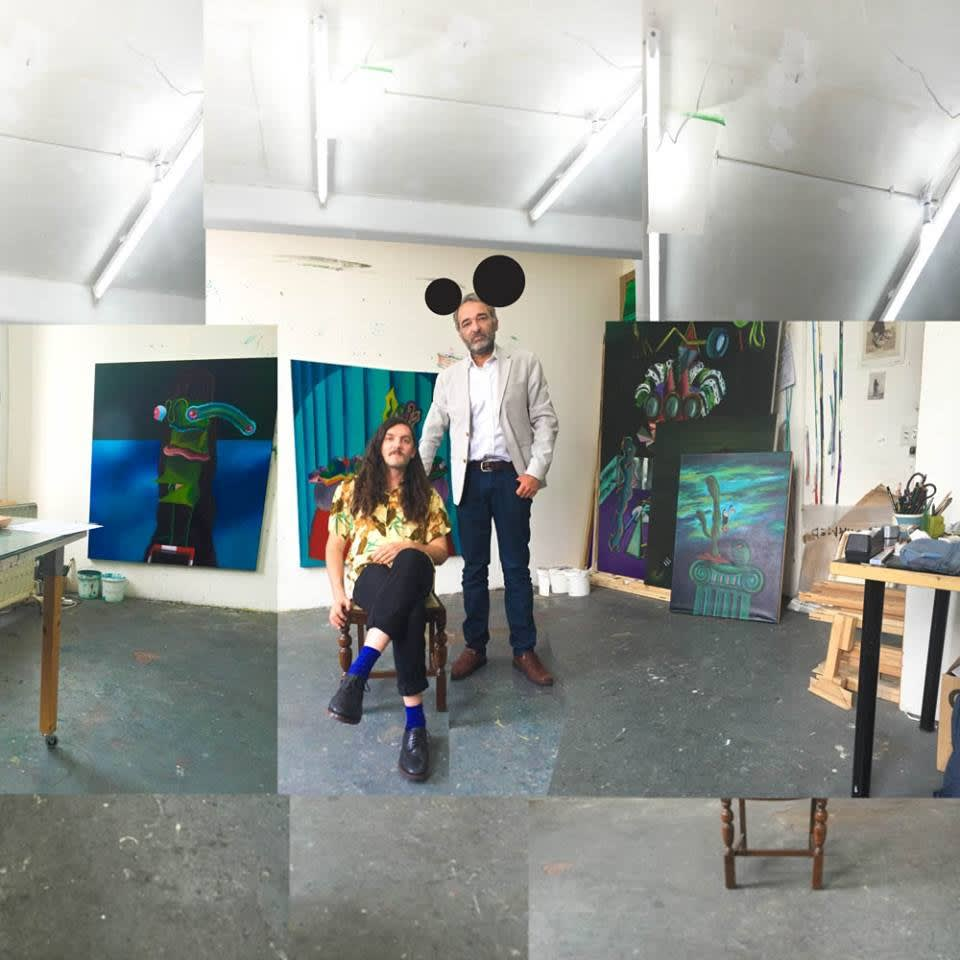 Studio visit with Gorka Mohamed