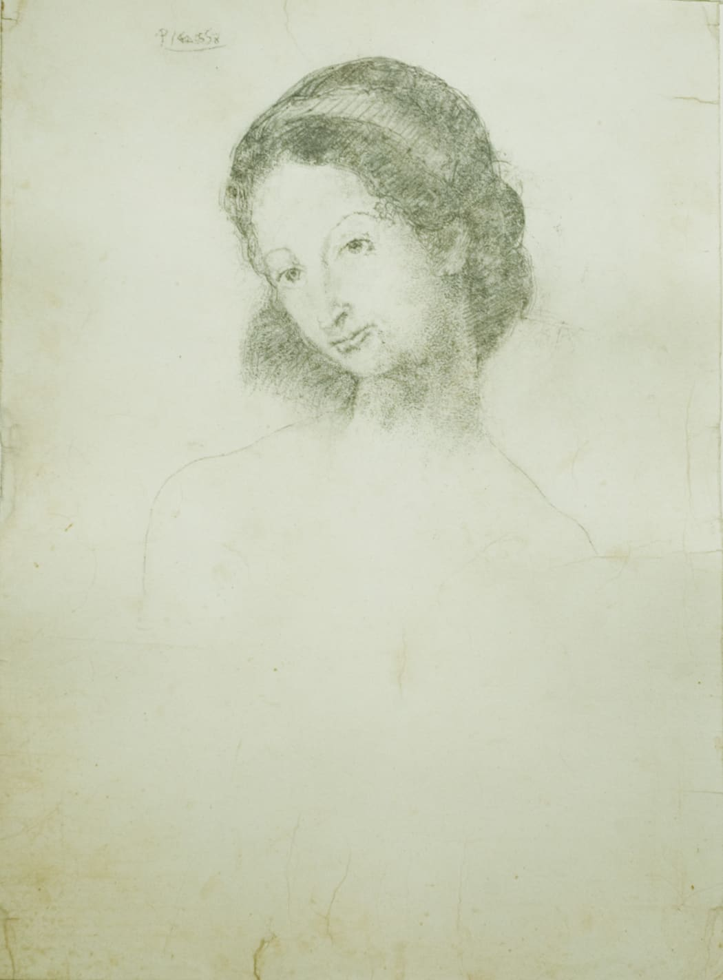 Portrait de la Fille de Charles Morice, 1906, pencil drawing on paper, 26 3/4 x 18 7/8 inches, John Szoke Gallery Collection