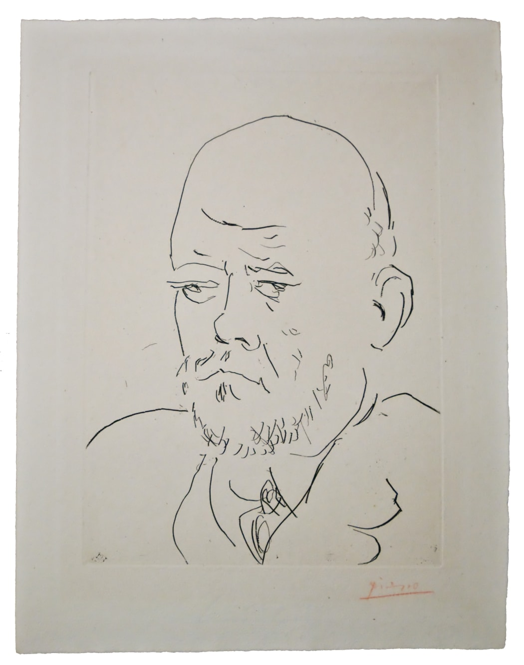 Portrait de Vollard IV (B233), 1933, etching, 17 1/2 x 12 3/8 inches