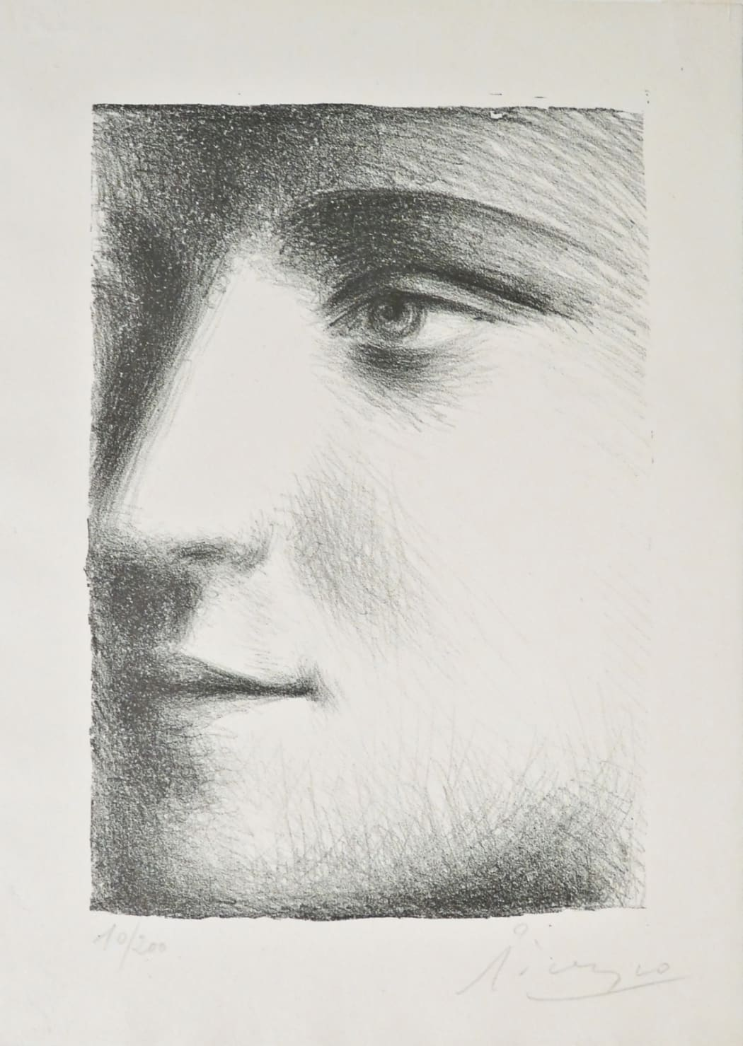 Visage de Marie-Thérèse B95, 1928 (Probably October, Paris), lithograph, 20 3/8 x 13 1/8 inches