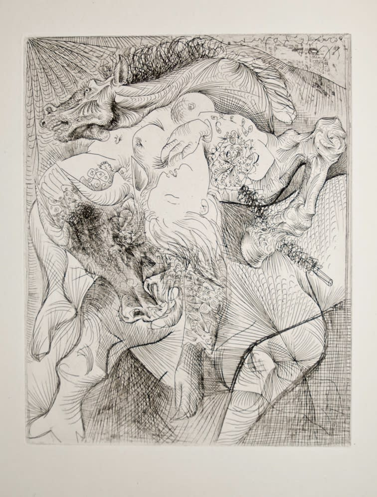 Marie-Thérèse en Femme Torero (B220), 1934, etching, 17 5/8 x 13 5/16 inches