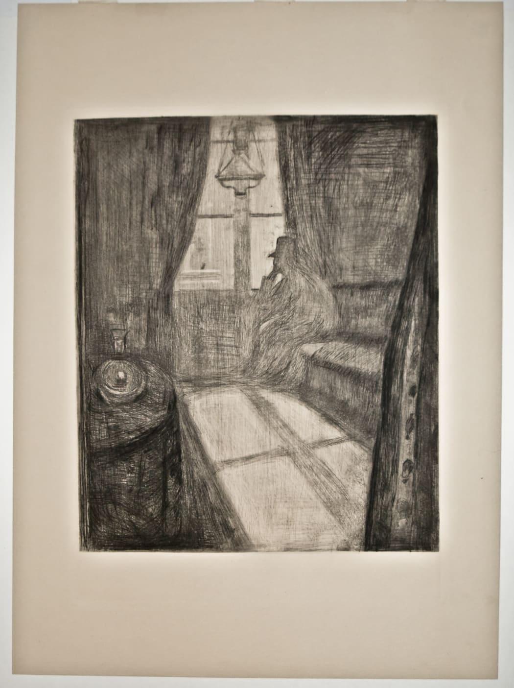 Måneskinn. Natt i Saint-Cloud (Moonlight. Night in Saint-Cloud) (Woll 17)), 1895, drypoint, 17 1/2 x 12 7/8 inches
