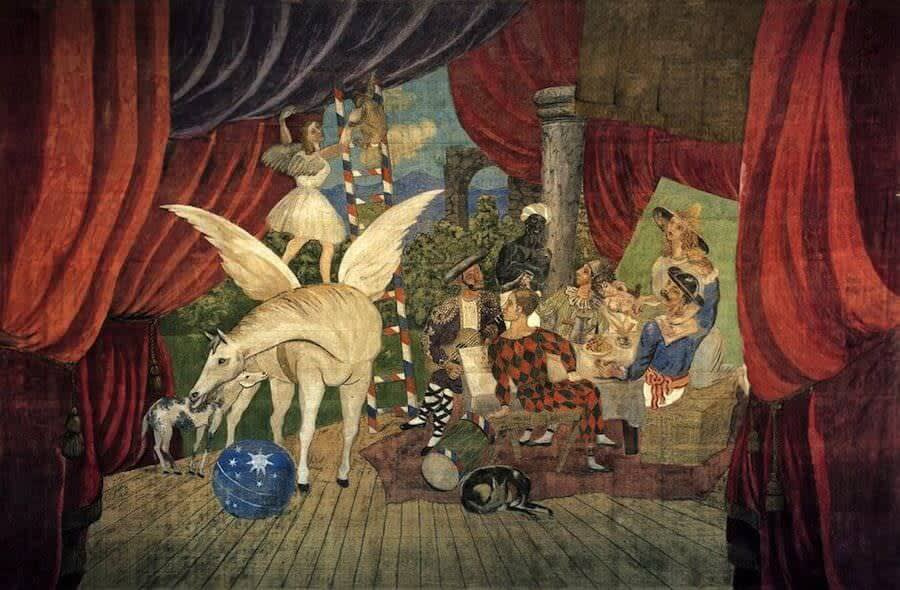 Circus scene painting by Picasso
