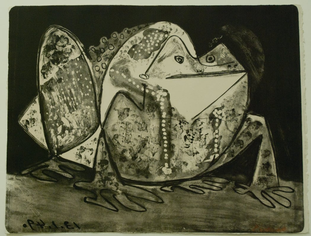 B0585 Le Crapaud, (Bloch 585)), 1949, lithograph, 19 1/2 x 25 1/4 inches