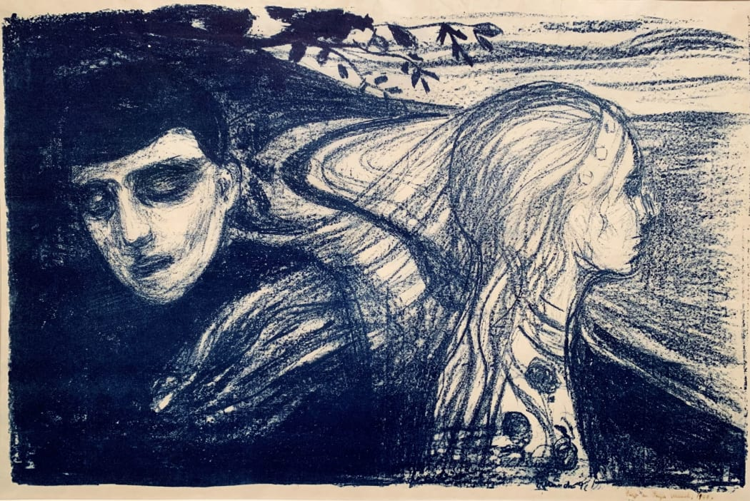 Løsrivelse II / Separation II W078, 1896, lithograph, 21 x 30 9/16 inches