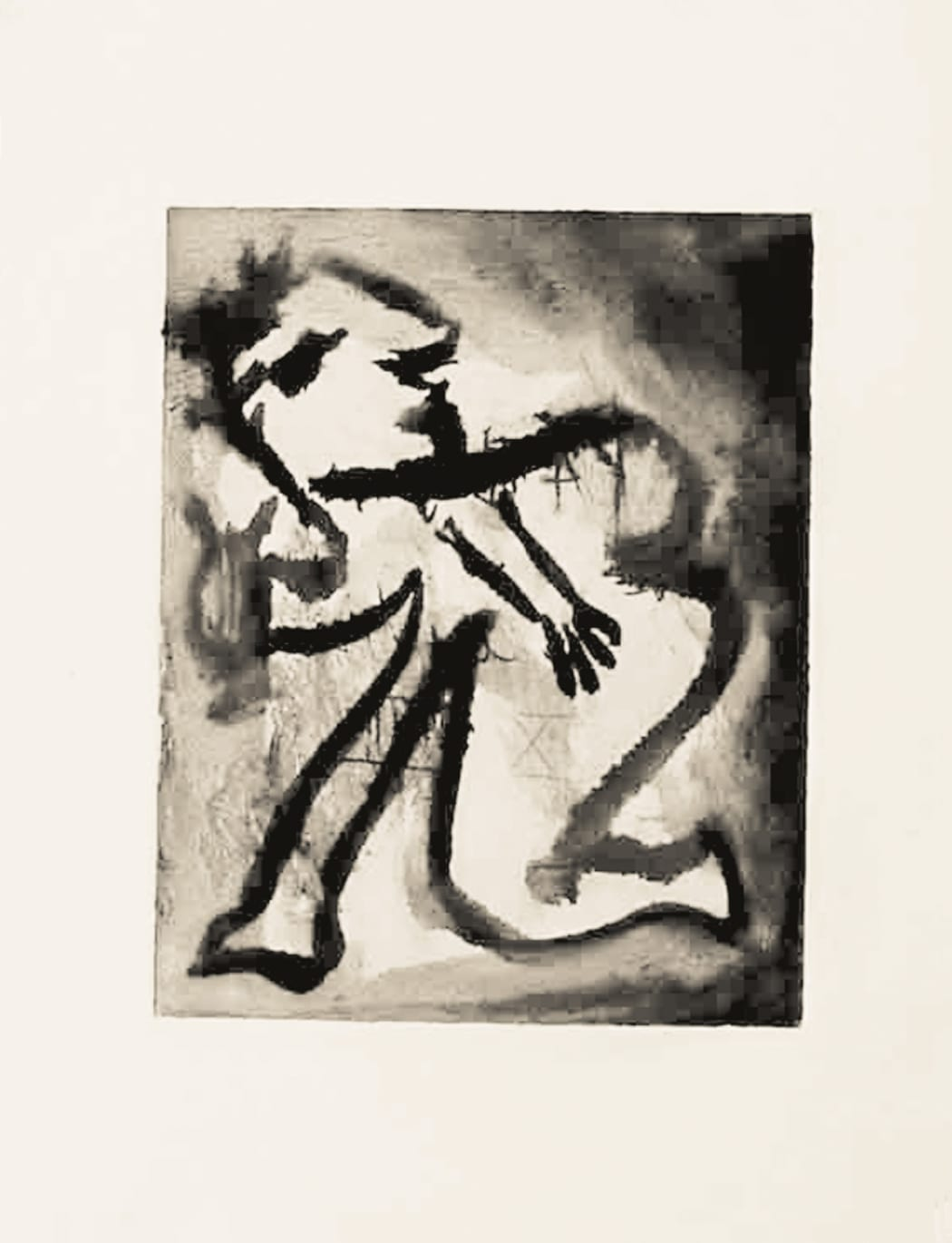 Orphée, ou le poète. II Ba541, 1933 (February 3, Paris), Monotype, 9 7/8 x 6 3/4 inches