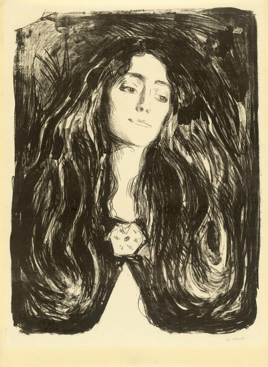 Die Brosche. Eva Mudocci (Woll 244) , 1903, lithograph, 23 7/8 x 18 3/8 inches