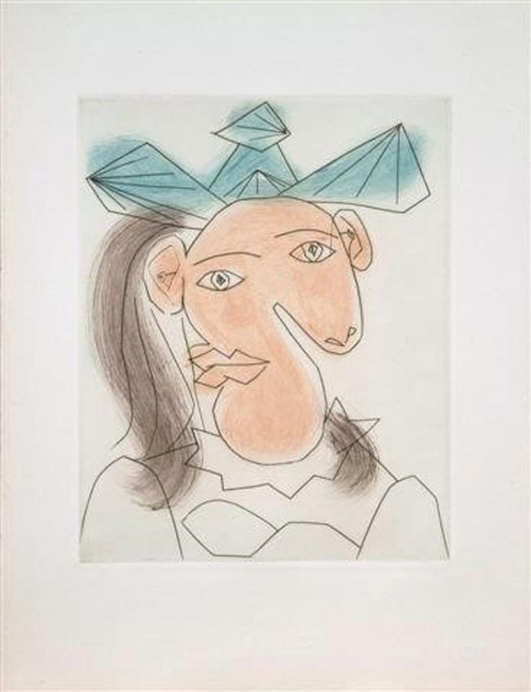 Tète de femme No. 7. Portrait de Dora Maar(B1336), 1939, aquatint, 17 1/2 x 13 1/4 inches