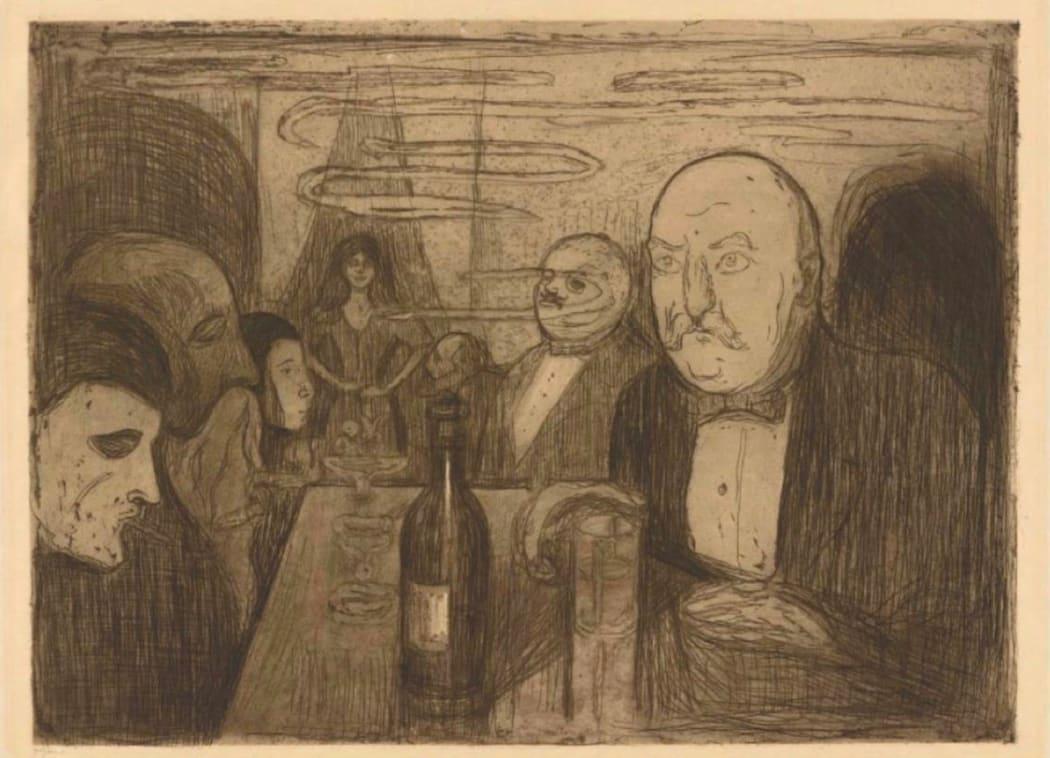 People gathering at a bar