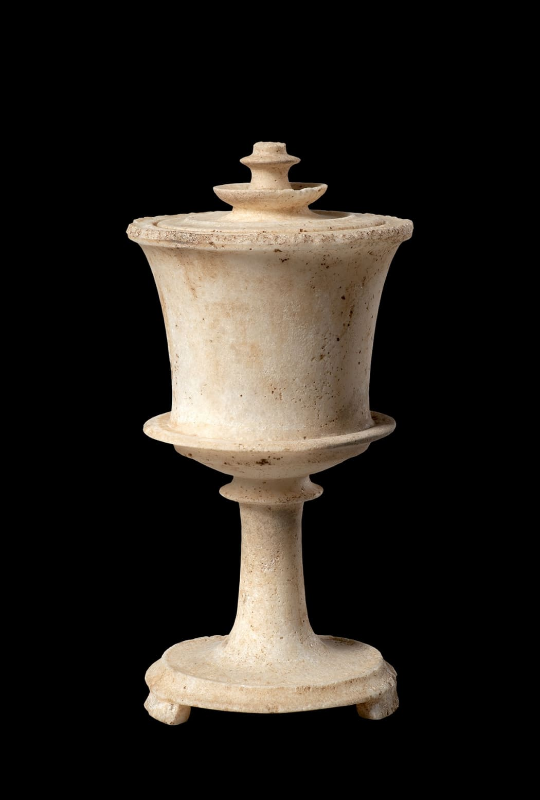 THE SCHUSTER PYXIS, A GREEK MARBLE LIDDED PYXIS, Classical Period, circa 440 - 400 BC