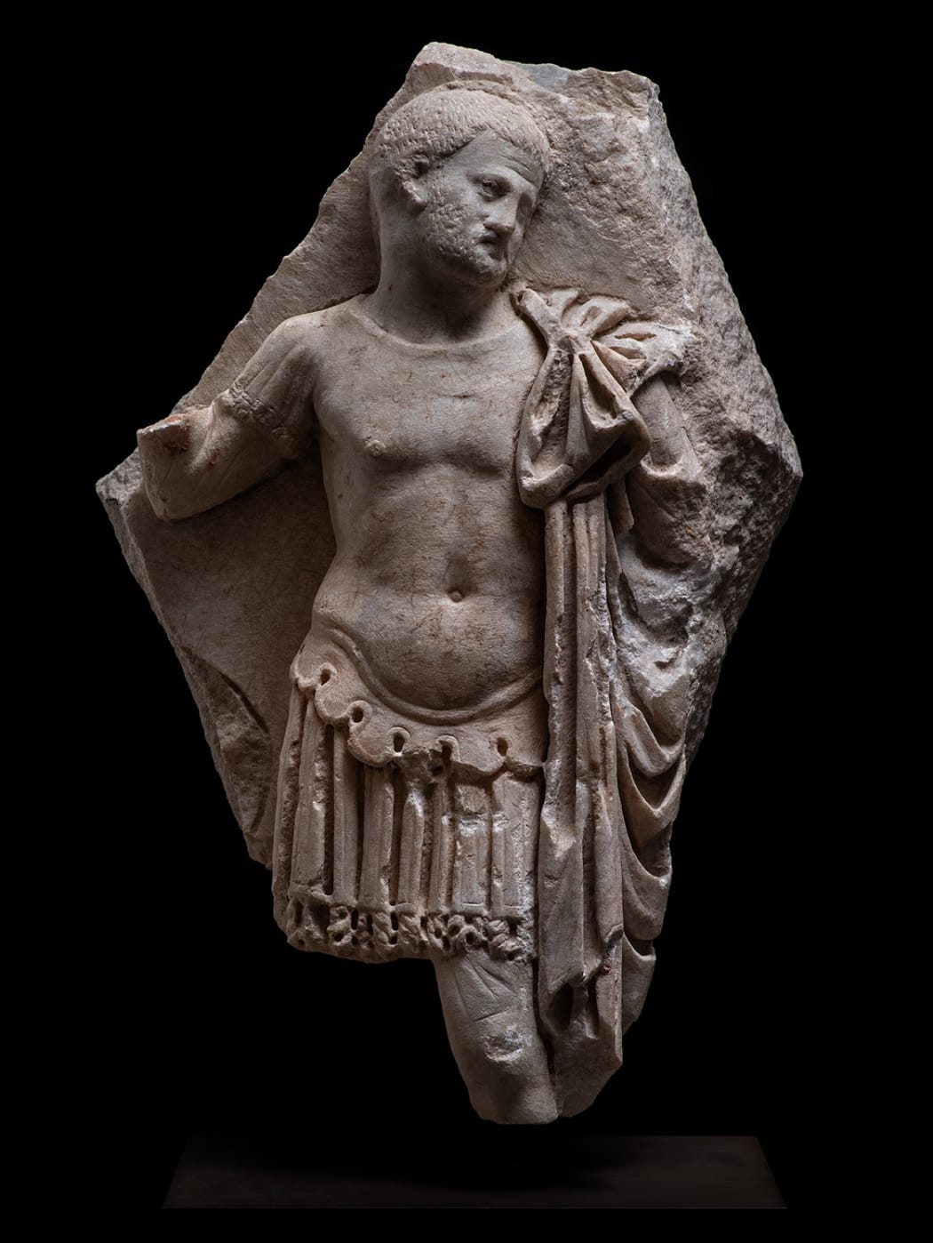 A ROMAN MARBLE RELIEF FRAGMENT OF A GENERAL, Circa 3rd century AD
