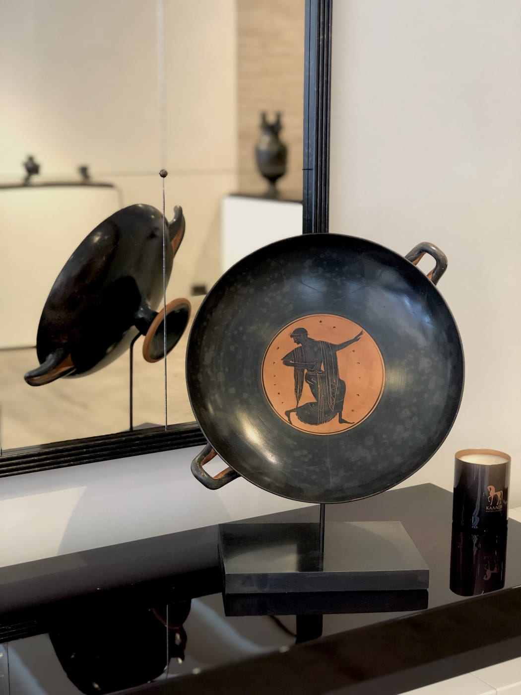 A LARGE ATTIC BLACK-FIGURE STEMMED KYLIX Late 6th century BC