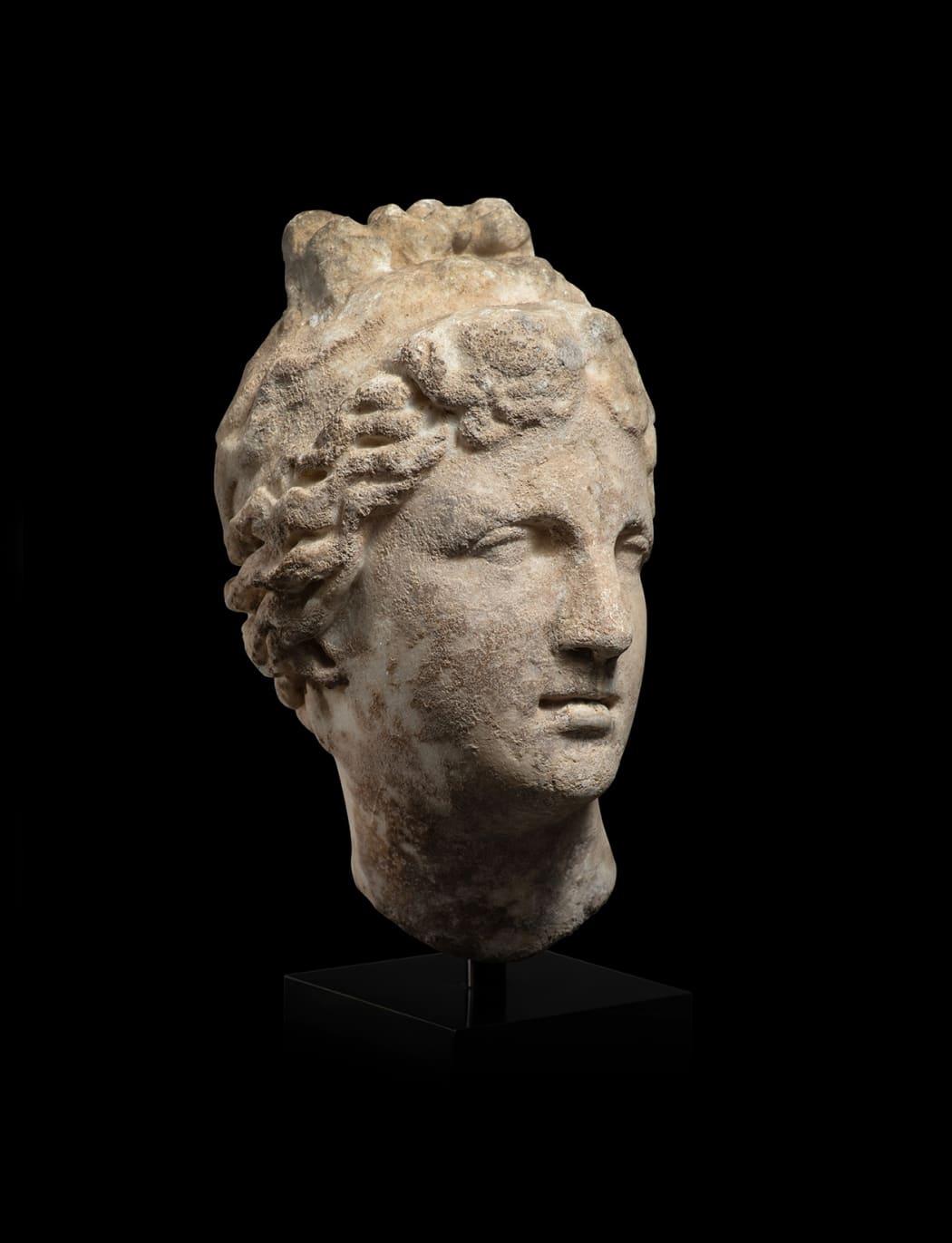 A ROMAN MARBLE HEAD OF VENUS, circa 1st - 2nd century AD