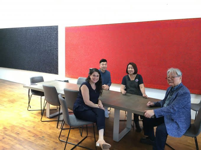 Young-Il Ahn, Soraya Ahn, Jacob Yi, and Jessica Moss in Young-Il Ahn's Studio (2018)