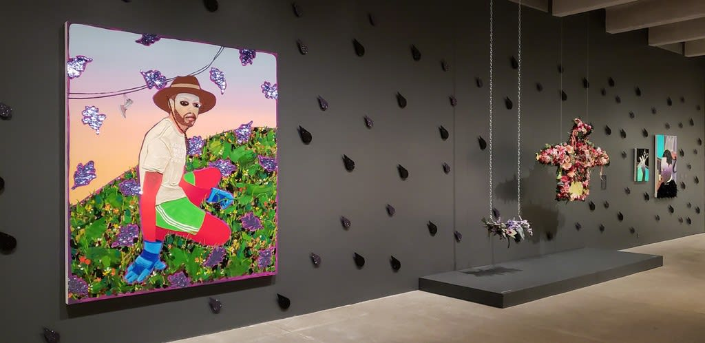 Devan Shimoyama, Cry Baby, Installation View, 2019, Andy Warhol Museum