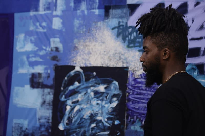 Patrick Alston in his studio. Image: EBAR Photo