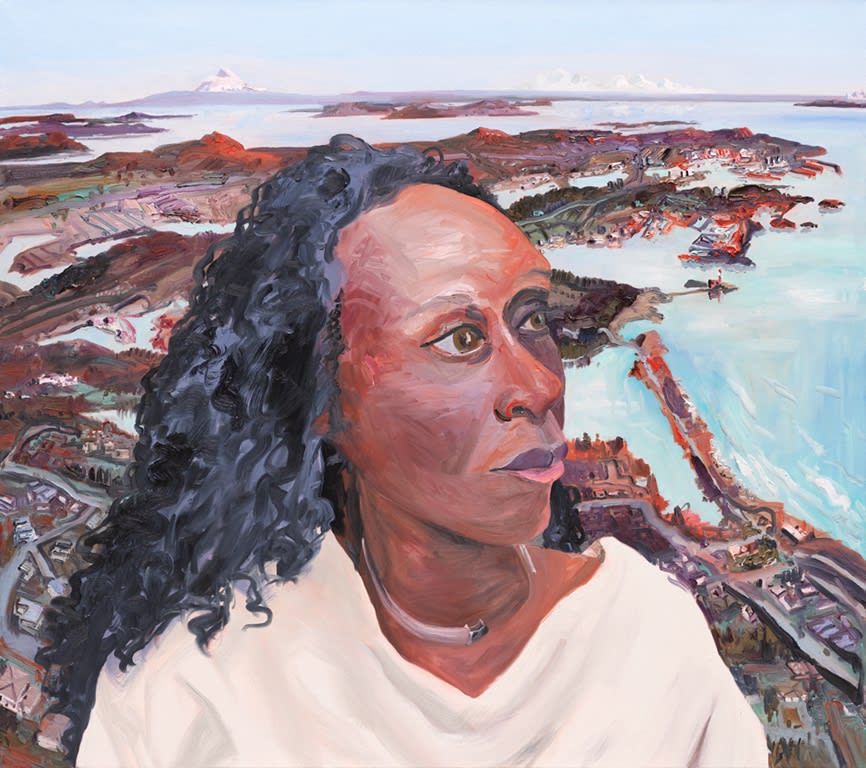 Esi Edugyan, Victoria, 2018, oil on linen, 48 x 54 in.