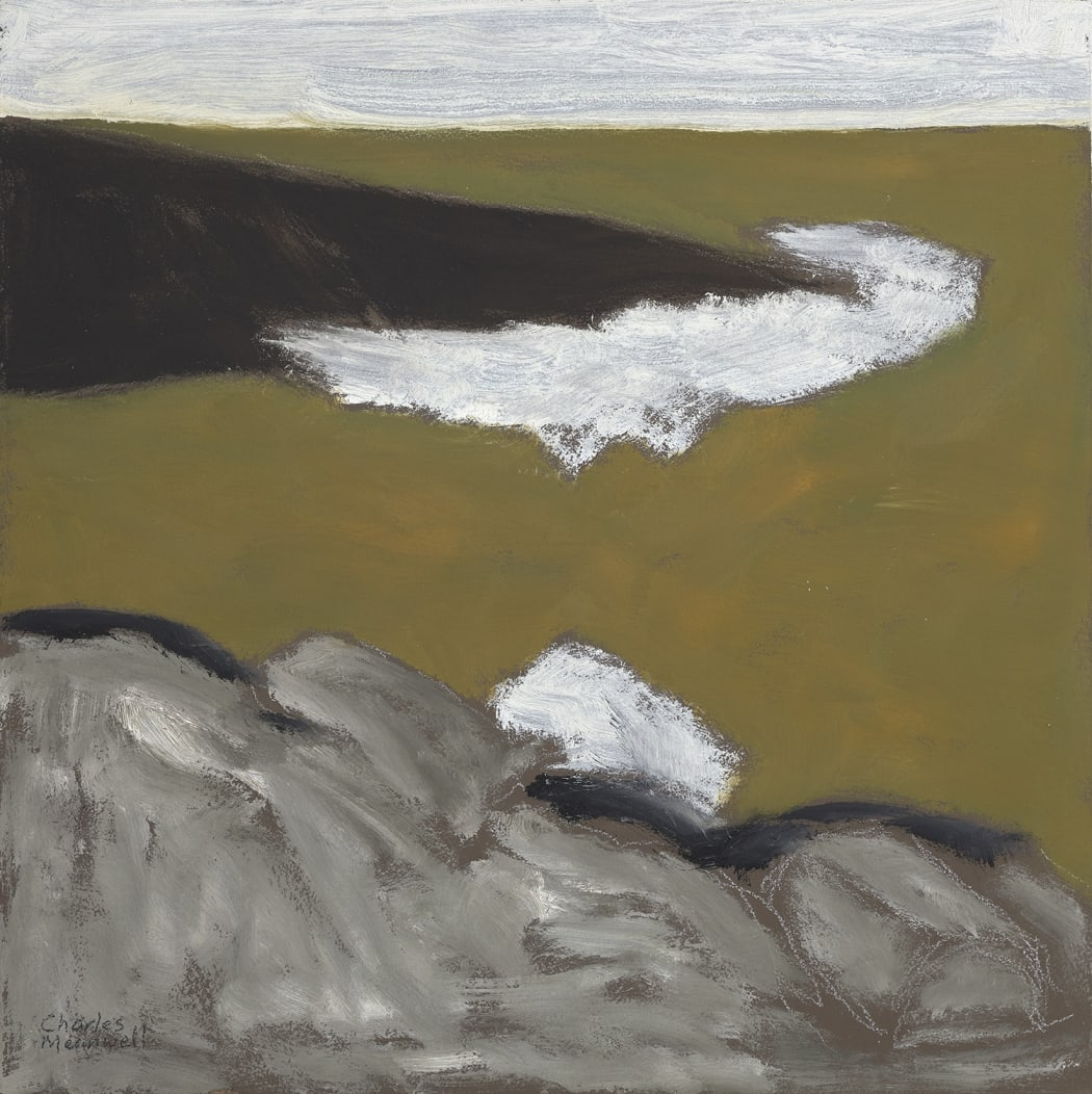 Grey Rocks, 2019, oil on panel, 13 3/4 x 13 3/4 in.