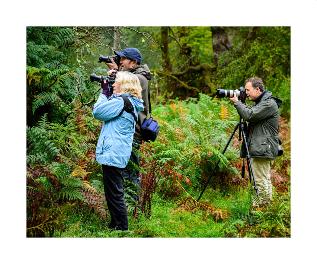 With members of Marlborough Photography in the Savernake Forest