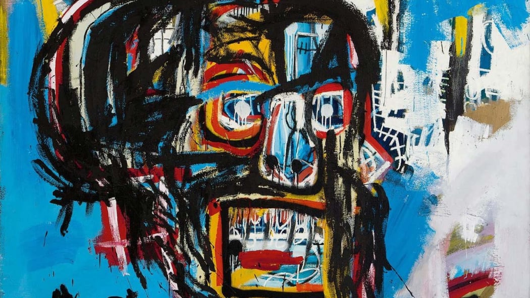Jean-Michel Basquiat's Untitled (1982), work in oil stick, acrylic and spray paint
