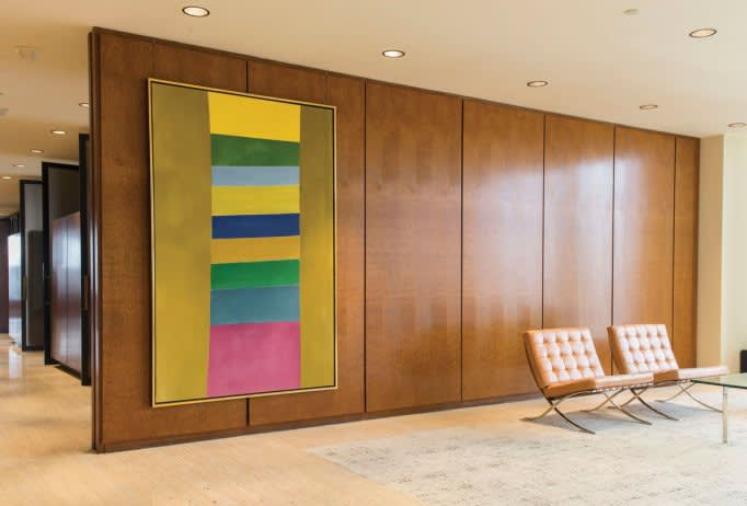 TD Bank – Mies van der Rohe chairs and Jack Bush's Rose