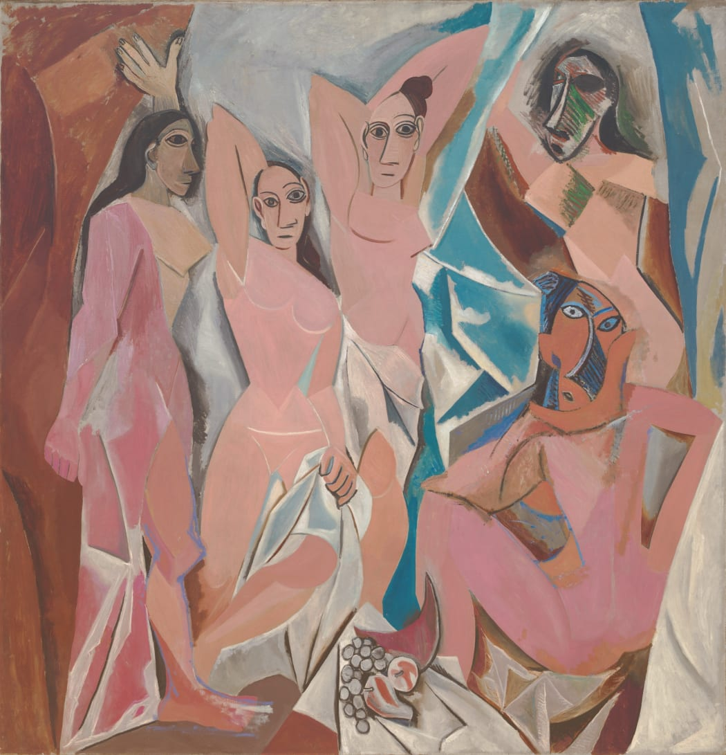 Pablo Picasso's Les Demoiselles d'Avignon (1907), oil on canvas, 243.9 cm × 233.7 cm