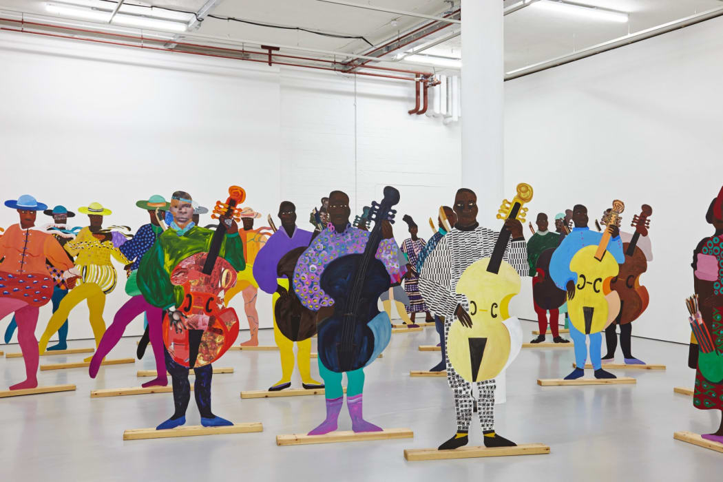 Lubaina Himid's work named Navigation Charts Spike Island and created on 2017