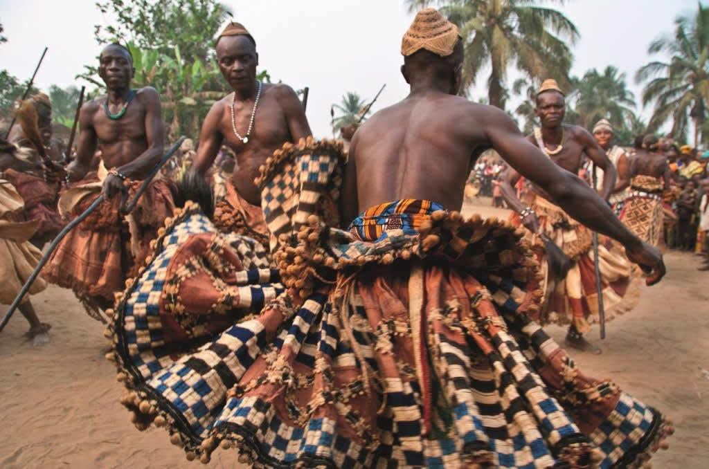 Congolese Kuba dancers in their full regalia   Credits-Forbes Africa