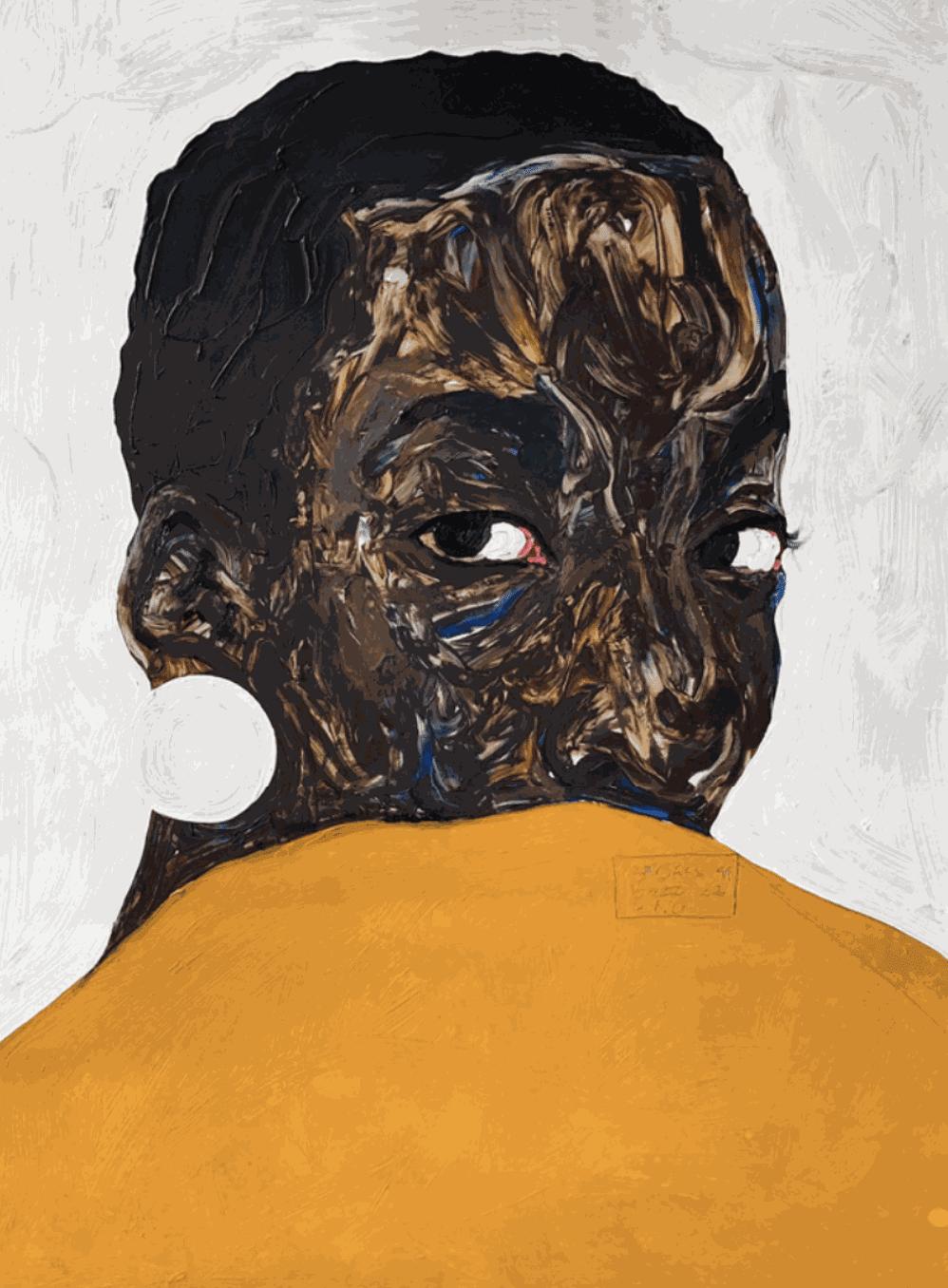 Amoako Boafo's Aurore Iradukunda, 2020