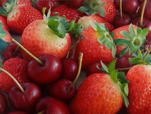 Cherries and strawberries, Antonio Castello
