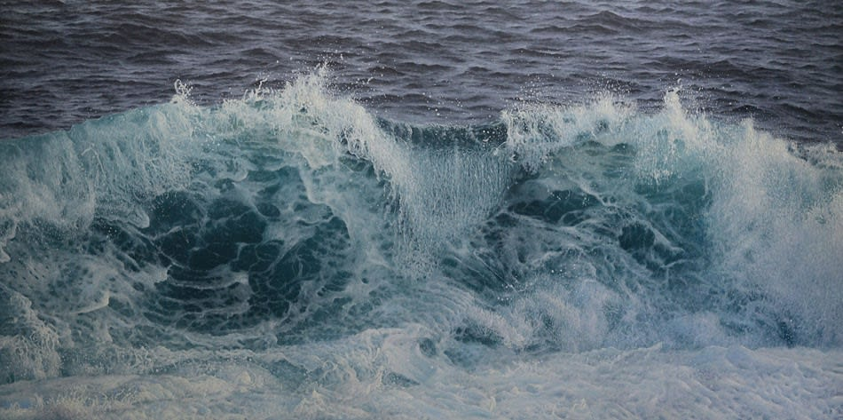 """Seascape"" by Antonis Titakis - Oil on canvas, 100x200cm"