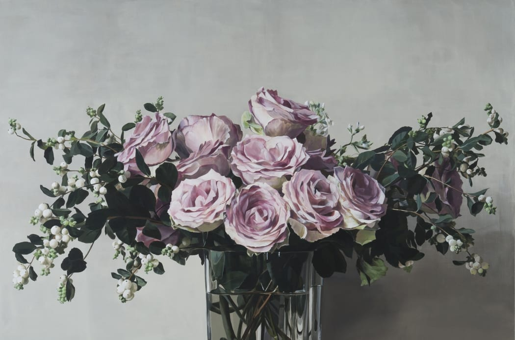 Ben Schonzeit 'Dusky Rose' Acrylic on linen, 183 x 213.4 cm
