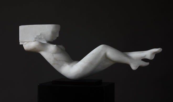 """""""Horizon"""" by Rogerio Timoteo - Marble, 30 x 72 x 15 cm"""
