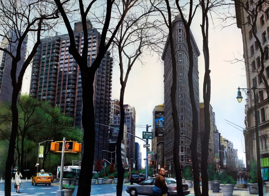 'Flatiron Building' Acrylic on board, 73 x 100 cm