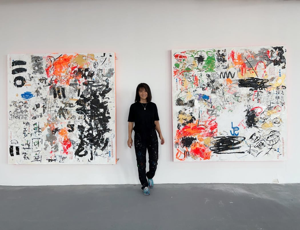 Artist Canal Cheong Jagerroos in her studio. Photo courtesy of the artist.