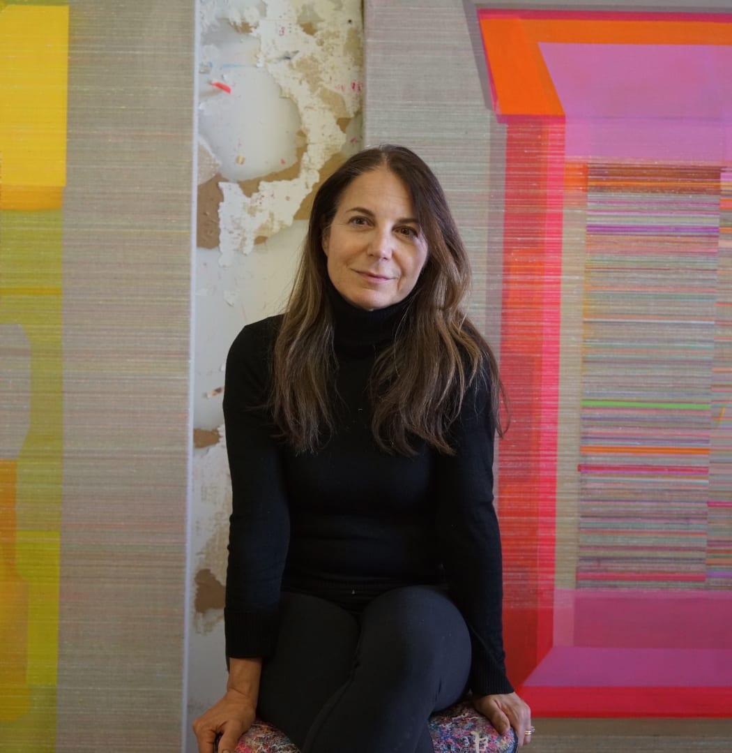 Antonietta Grassi in her studio in Montreal