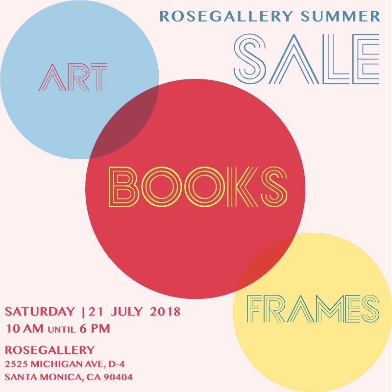 ROSEGALLERY announces BOOK + FRAME + ART SALE