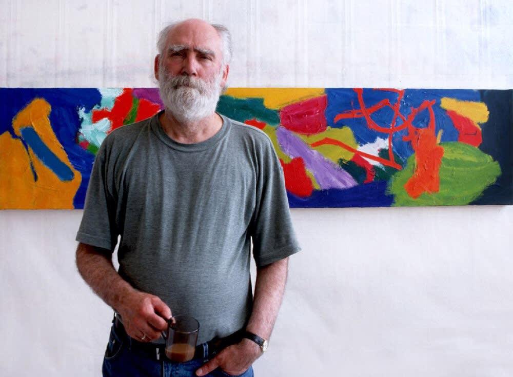 Fred Pollock in his studio. Photo credit Sean Pollock.