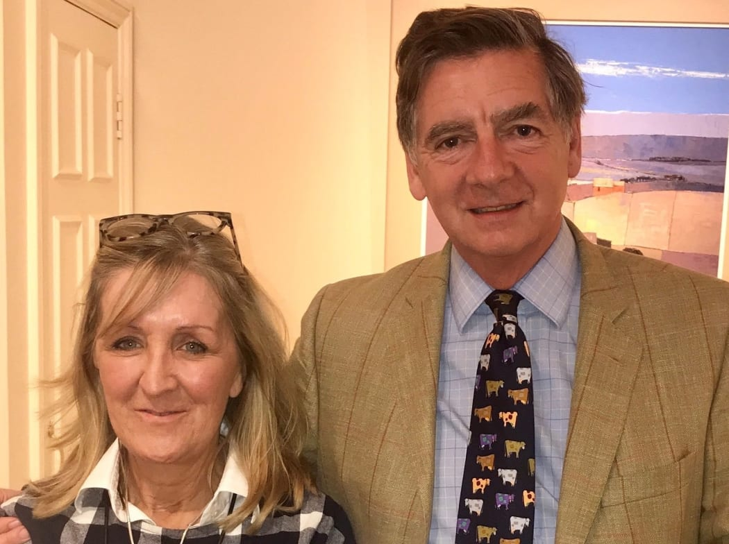Gallery Manager Nickie Forsyth with Gerald Dodson owner of The Wykeham Gallery