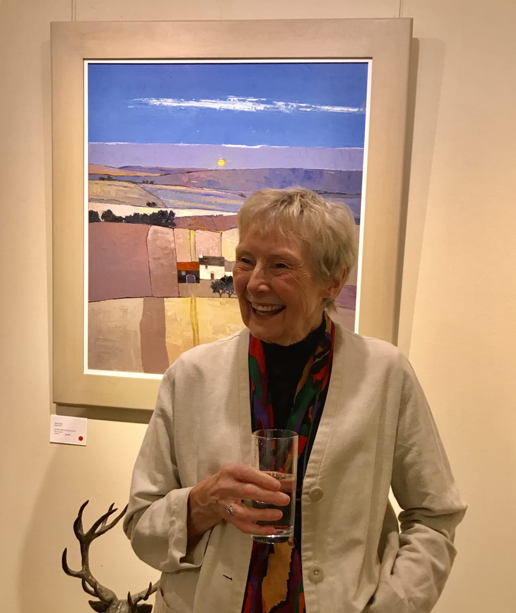 Mary Pym at the Private View