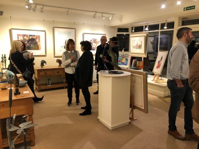 Opening night at the Wykeham Gallery