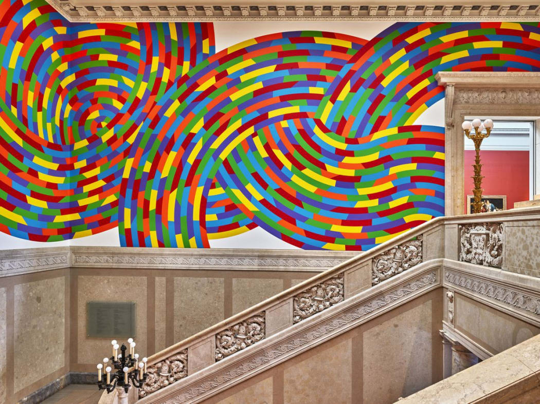 Sol LeWitt. Wall Drawing #1131, Whirls and Twirls (Wadsworth), 2004. Wadsworth Atheneum Museum of Art, Hartford, CT