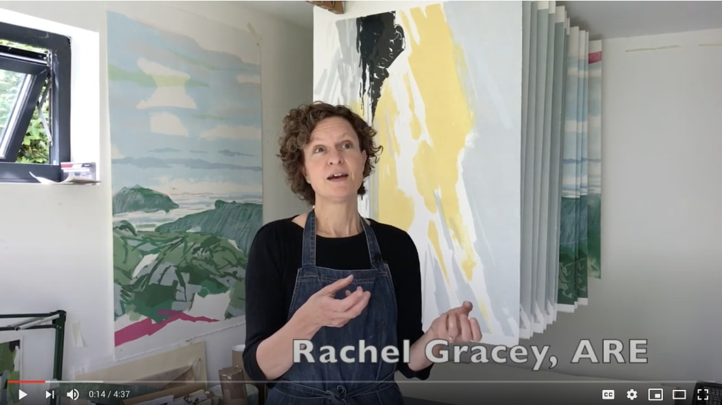 Rachel Gracey in her studio