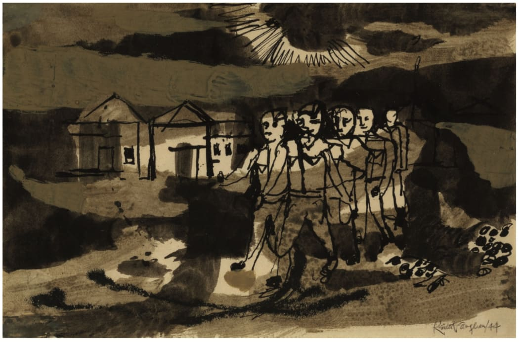 Keith Vaughan (1912-1977) Soldiers Marching, 1944