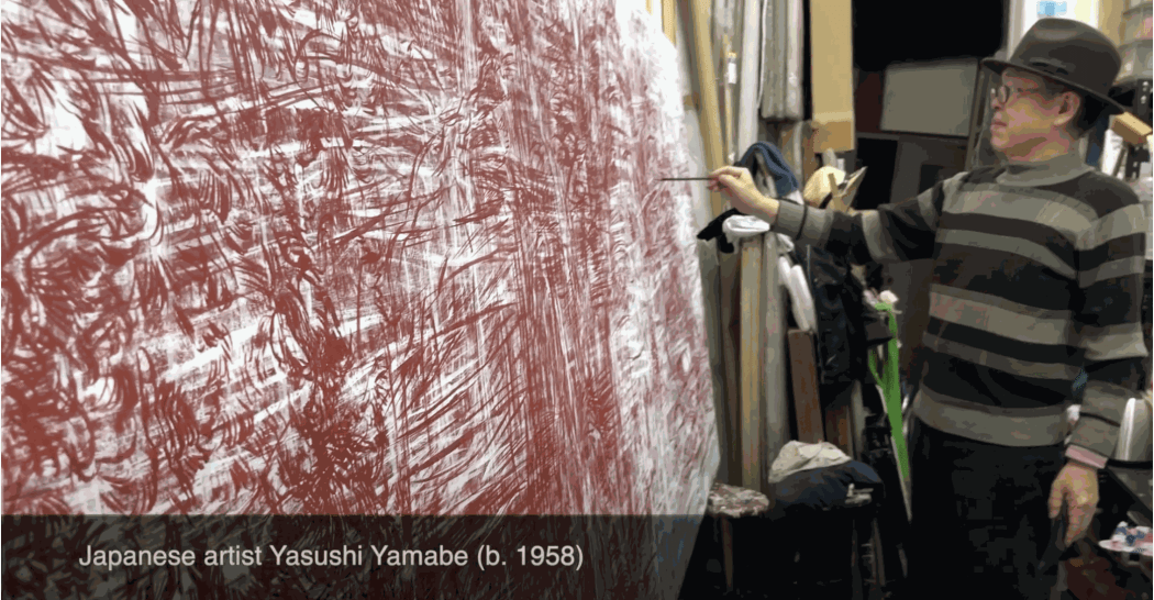 Yasushi Yamabe in his studio in Kyoto, Japan