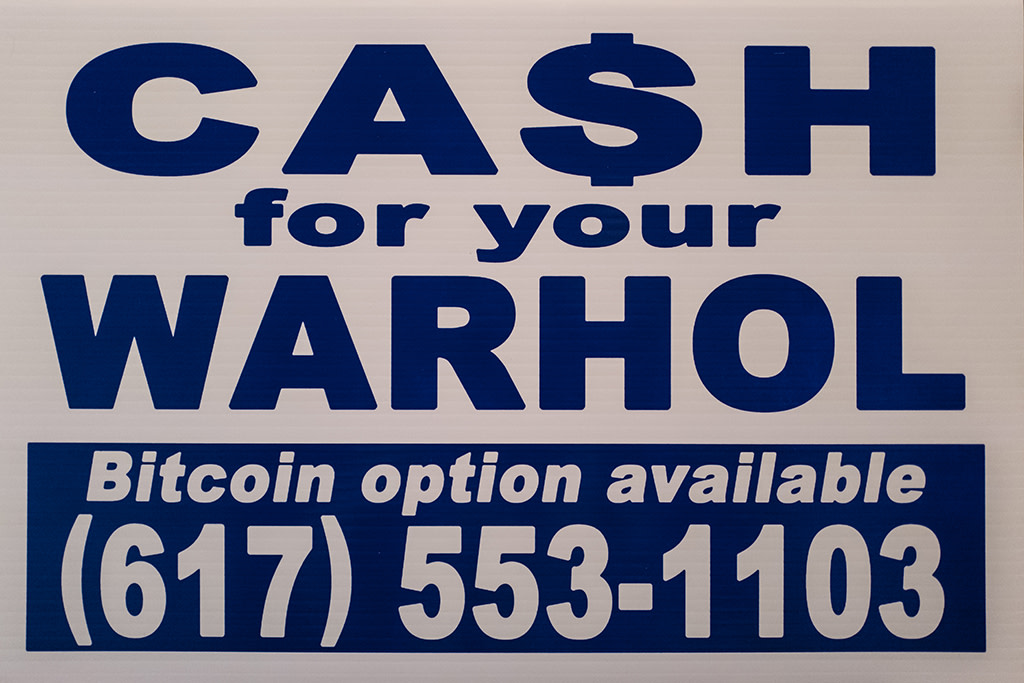 Cash For Your Warhol, CFYW Bitcoin (White), 2018