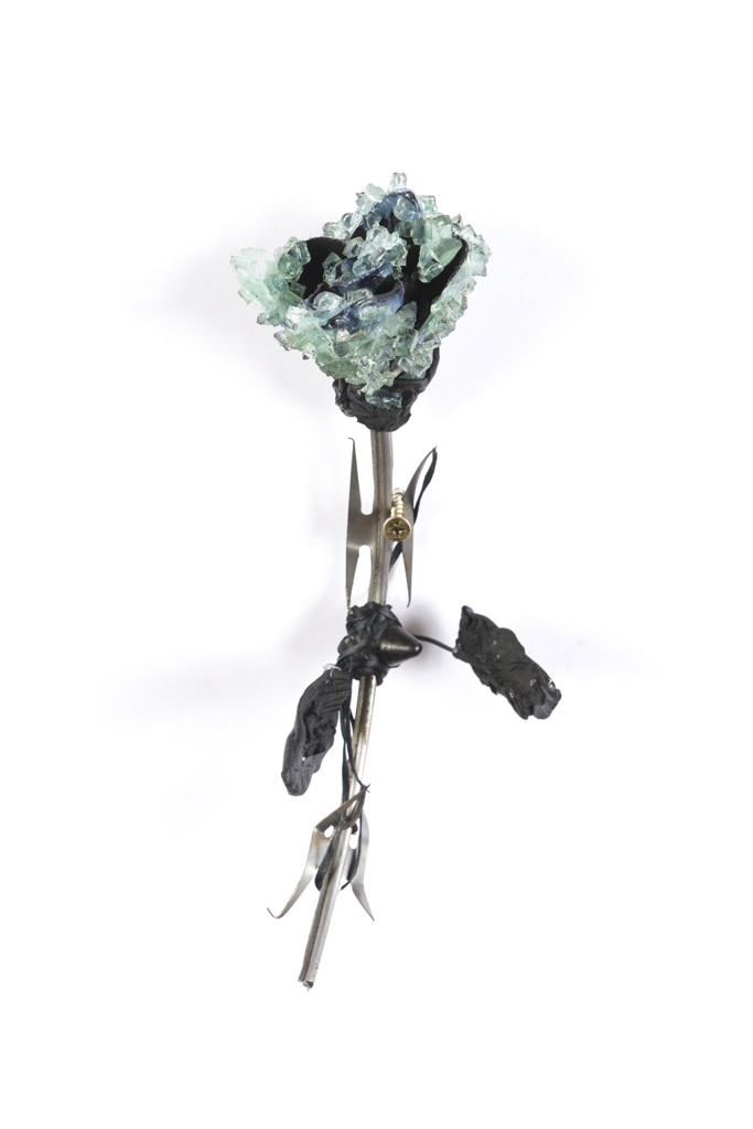 Lucien Shapiro, Rose with Leaves No. 3, 2017