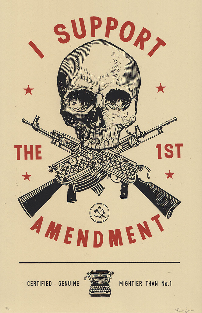 Ravi Zupa, I Support The 1st Amendment, 2019