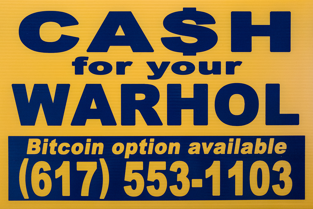 Cash For Your Warhol, CFYW Bitcoin (Yellow), 2018
